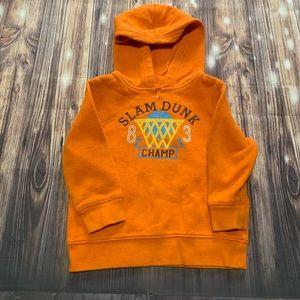 Orange basketball hoodie